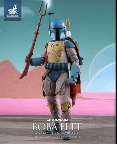 Hot Toys Star Wars Boba Fett Animation Version 1//6 Figure Sideshow Exclusive