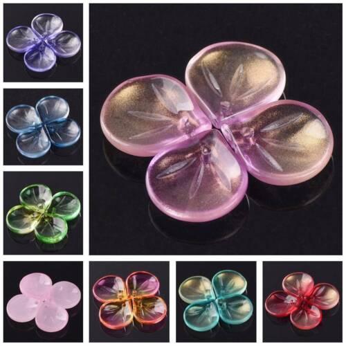 50pcs 15mm x 13.5mm Sector Petal Crystal Glass Loose Crafts Pendants Beads lot