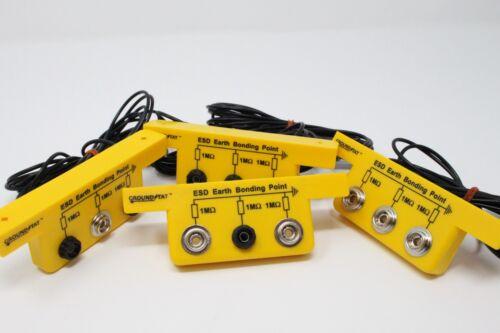 Anti Static ESD Grounding//Bonding Slim Line Bracket 2 x 4mm Banana /& 1 x 10 Stud