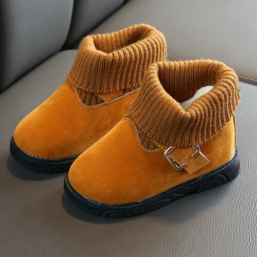 Toddler Infant Kids Baby Girl Winter Warm Solid Short Boots Booties Casual Shoes