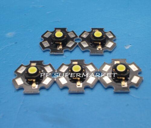 100pcs 3W cold white High Power Led Light Bead Chip 3 Watt 6000-6500k with 20mm