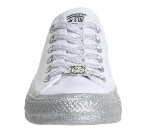 Converse CTAS Classic Ox Trainers 6.5 UK SILVER METALLIC