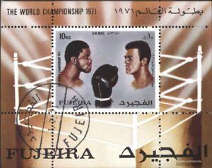 Fujeira-Block57A-kompl-Ausg-gestempelt-1971-Boxkampf-Frazier-Muhammad-Ali