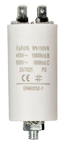 Condensador Fixapart 2x 8.0uf//450 V Tierra