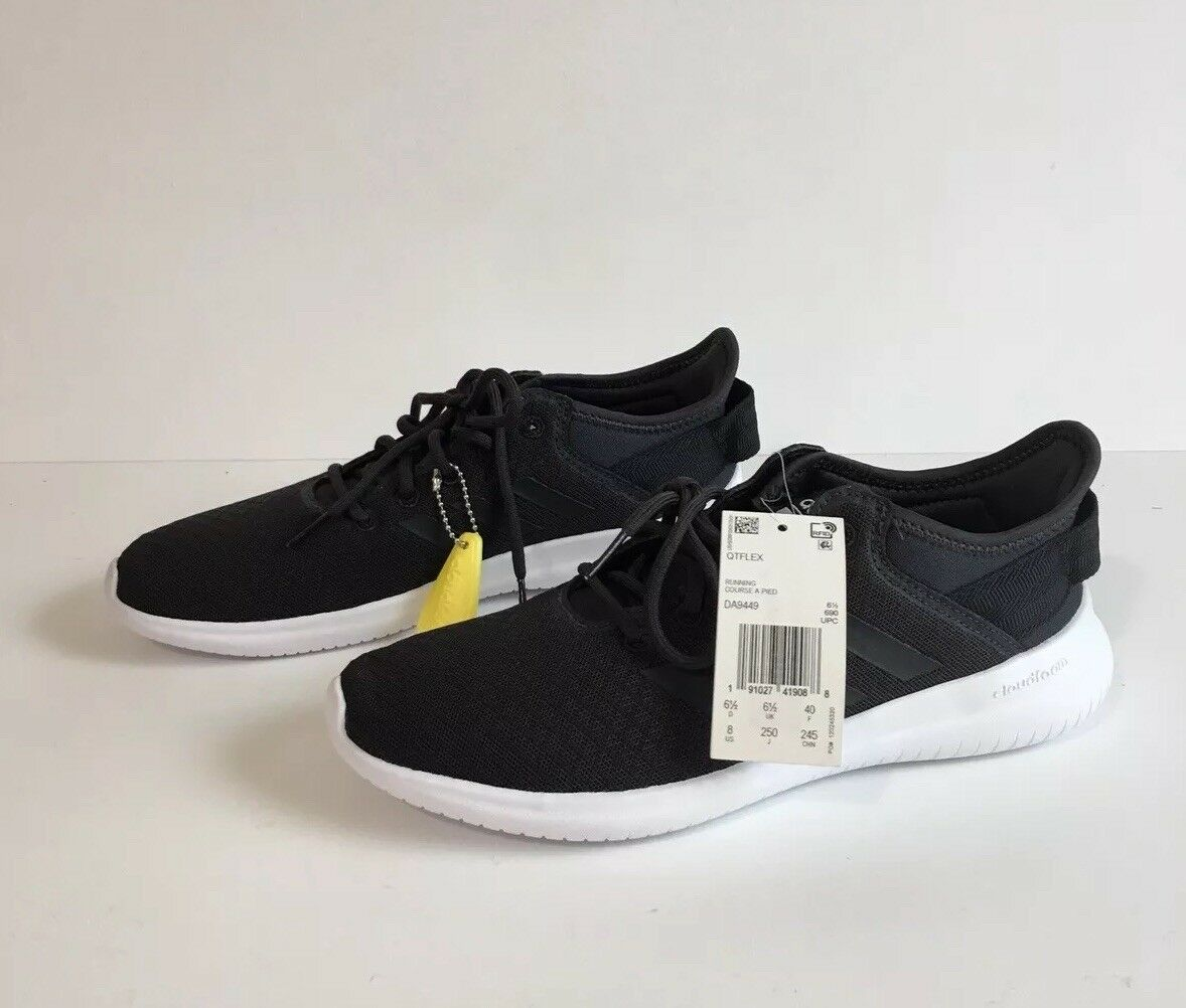 Adidas Cloudfoam QTFLex Women Running shoes Black White White White DA9449 US Sz 8 with Tags 1b251c