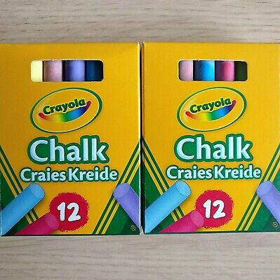 Chalk Crayola Anti Dust Assorted Color 12 Chalks Blackboard Crayons Pencils New