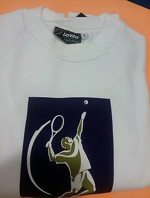 100% Vero Felpa Lotto Taglia S. Bianca. Tennis Atp Logo.marca Lotto L'Ultima Moda