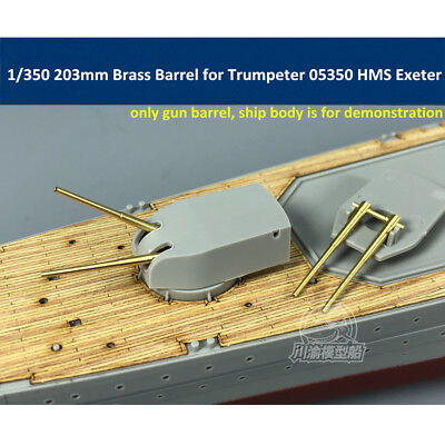 1//350 203mm Metal Barrels for Trumpeter 05350 05351 HMS Exeter Model 6pcs//set