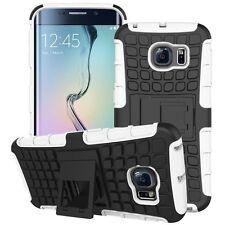 Hybrid 2 teilig Outdoor Hülle Tasche Weiß für Samsung Galaxy S6 Edge Plus G928 F