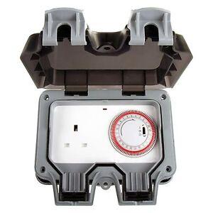 Masterplug-Weatherproof-Timer-Controlled-13A-Outdoor-Power-Socket-1-Gang-Storm