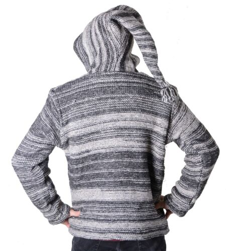 Kunst Magie Und Nepal Wool Men's Baja Pointed Cardigan Sweater Hood Poncho 8zv1pq