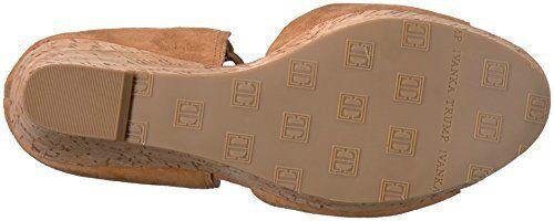 IVANKA TRUMP - HELLAN3 - - - braun Cognac Suede Leather Wedge Sandals - Größe 7.5 M 6000b8