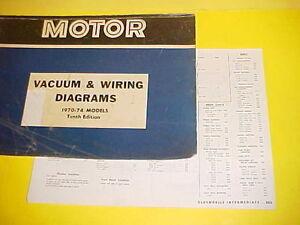 1970 1971 1972 1973 1974 Oldsmobile Cutlass S Supreme 442 Vacuum Wiring Diagrams Ebay