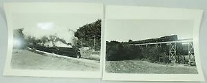Vintage Norfolk and Western B&W Train Photo Photographs Lot