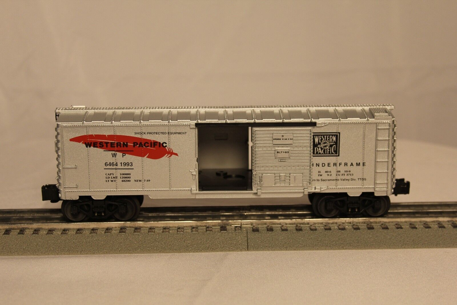 LIONEL WESTERN PACIFIC SACRAMENTO VALLEY DIVISION Box Car TTOS Member Only NOS