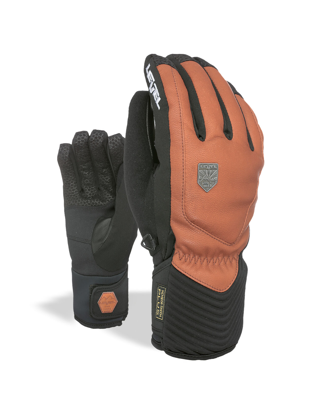 Level Guantes Renegado Marrón Impermeable Transpirable Cálidos
