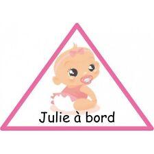 Sticker Bébé à Bord Personnalisé Fille Autocollant