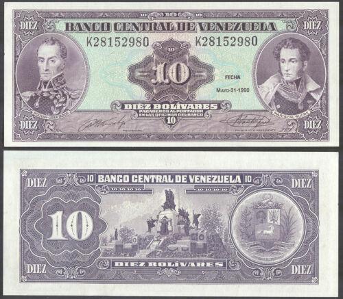 VENEZUELA 10 Bolivares 1990 Banknote Note UNC P 61b P61b