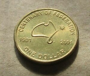 AUSTRALIA-DECIMAL-2001-CENTENARY-OF-FEDERATION-1-00-DOLLAR-COIN