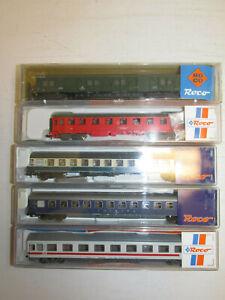 Convolute-5-Roco-Scale-N-Passenger-Cars-N24491-N24493-25130-25488-24419-Boxed