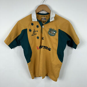 Australian-Wallabies-Kids-Rugby-Jersey-Youth-Size-8-Canterbury-Short-Sleeve