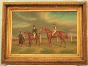 THOROUGHBRED-RACE-HORSE-OIL-ON-CANVAS-BY-G-ROY