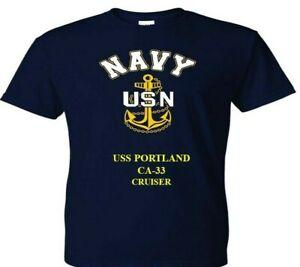 USS-PORTLAND-CA-33-CRUISER-amp-SILKSCREEN-NAVY-ANCHOR-SHIRT-SWEAT