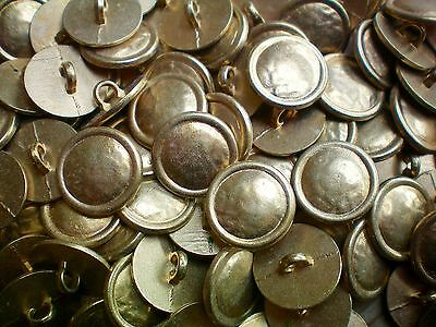 15mm 24L Yellow Gold Beaten Metal Industrial Costume Rustic Shank Buttons XM42 X