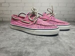Sperry-Top-Sider-Womens-Pink-Boat-Shoes-Size-9m