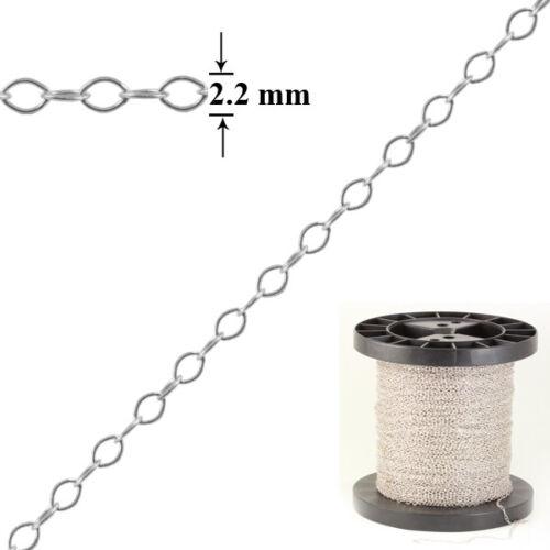 Sterling 925 Silberkette Rolo Oval Form für Schmuckherstellung versch Überzogen