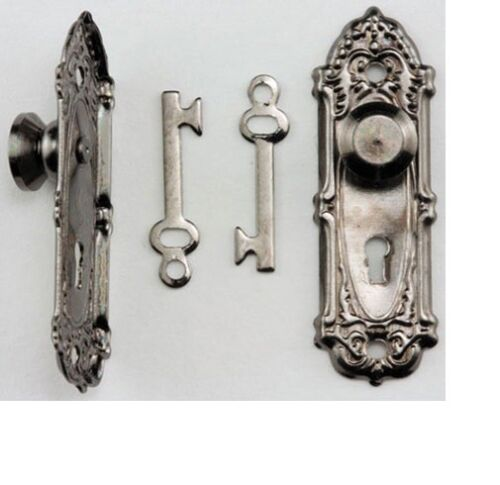 Dollhouse Miniatures 1:12 Scale Opryland Door Handle Set with Key #CLA05576