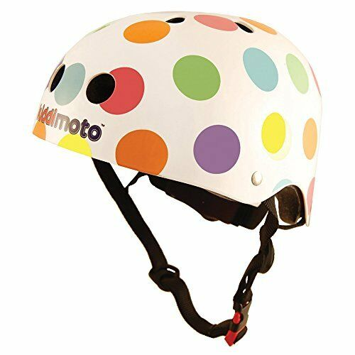 Kiddimoto Kids Pastel Dotty Helmet  Multicolourosso, 4852cm