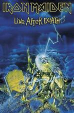"IRON MAIDEN FLAGGE / FAHNE ""LIVE AFTER DEATH HOCHFORMAT"" POSTERFLAGGE"