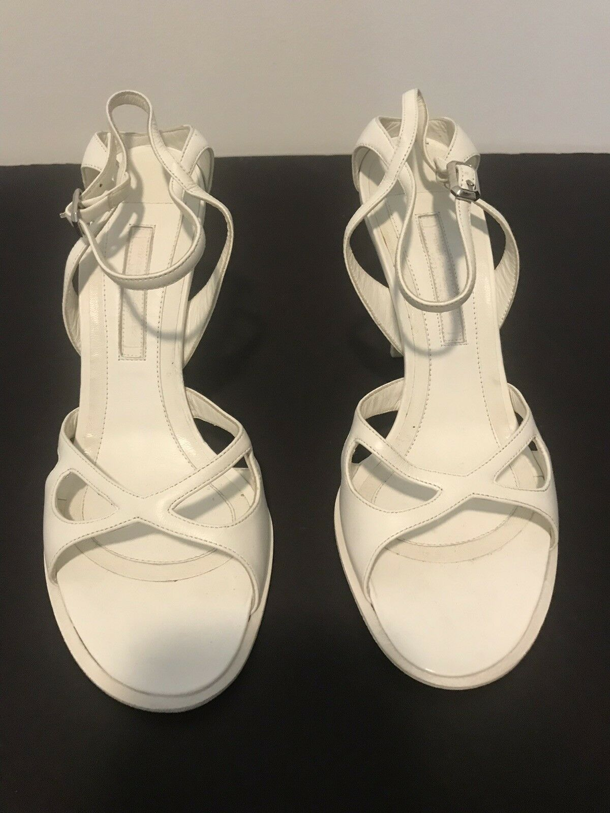 Narciso Narciso Narciso Rodriguez blanc high heel sandals, NWOTB, Made in  04a224