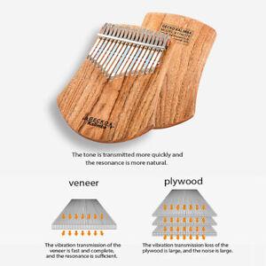 GECKO-17-Keys-Kalimba-African-Camphor-Wood-Thumb-Piano-Finger-Percussion-NEW