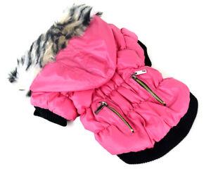 sehr-warme-Hundejacke-Winterjacke-Steppjacke-mit-Kapuze-Fell-Hund-Mantel-M-L-XL