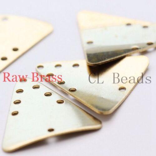 1713C 22x20.5mm 30 Pieces Raw Brass Triangle Charm