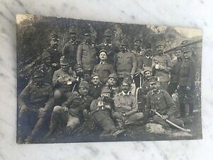 MILITARI-GRUPPO-PRIMA-GUERRA-1916-CARTOLINA-FOTOGRAFICA-OLD-PHOTO-POSTCARD