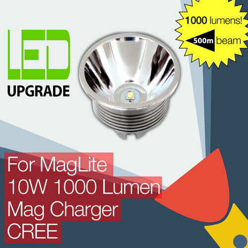 MagLite Rechargeable LED Conversion Upgrade bulb Mag Charger Torch Flashlight