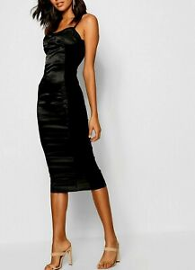 Black Mesh Bodycon Dress Sz US 4 UK