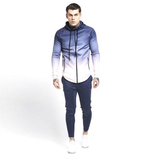 Men/'s Full Zip Up Hoodie Sports Pullover Sweatshirt Hooded with Zipper Pockets