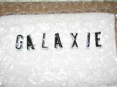 62 63 Ford Galaxie trunk lid letters emblems