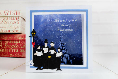 D1299 Christmas FREE UK P/&P NEW Tattered Lace /'MELDED CAROLERS/' Die