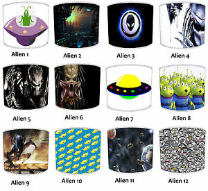 Outer space Aliens Lampshades, Ideal To Match Aliens Outer Space Cushion Covers
