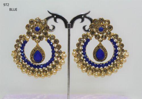 Jhumka jhumki Indian Ethnic Earring Gold plated bead Tribal Jewellery Uk Seller