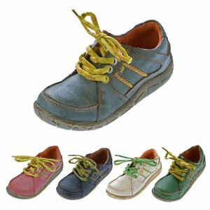 Pelle-da-Donna-Scarpe-basse-sneakers-comfort-look-vissuto-Lacci-Scarpe-Da-Ginnastica-TMA-Eyes