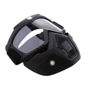 Antivento-Maschera-Con-Occhiali-Da-Sole-Viso-Staccabile-Per-Moto-Chiaro