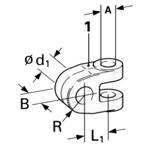 Gabelkopf für Hydraulische Oberlenker Kat 2 u 3 mit 25 mm Bolzen TL25257630KR