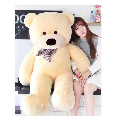56inch Giant  Huge Big Stuffed Plush Beige Teddy Bear Soft Doll Toys gift 140cm