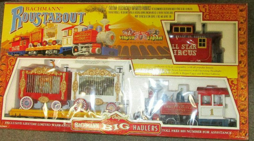 Bachmann ROUSTABOUT CIRCUS G Scale  Electric​ Train Set  new box